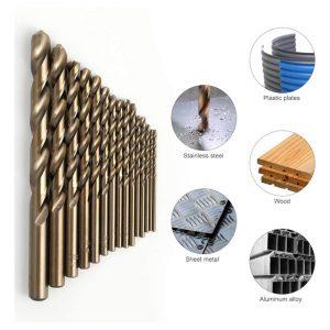COMOWARE-Cobalt-Drill-Bit-Set-15Pcs-M35-High-Speed-Steel-Twist-2