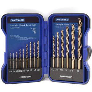 COMOWARE-Cobalt-Drill-Bit-Set-15Pcs-M35-High-Speed-Steel-Twist