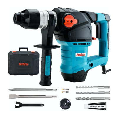 ENEACRO 1-1:4 Inch SDS-Plus 12.5 Amp Heavy Duty Rotary Best Hammer Drill