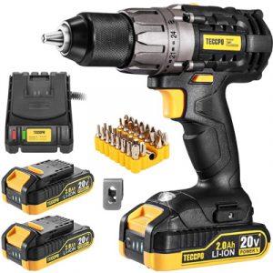 TECCPO-Cordless-Drill-20V-Drill-Driver-2x2000mAh-Batteries