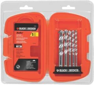 BLACK DECKER Masonry Drill Bit Set 5-Piece