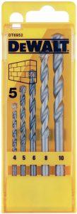 DEWALT Masonry Drill Bit Set 5 Piece