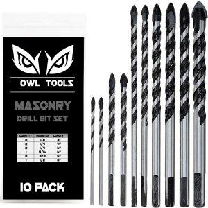 Owl Tools 10 Piece Masonry Drill Bits Set 1
